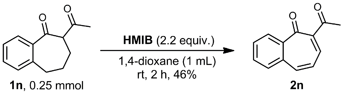 Double dehydrogenation of carbocyclic β-dicarbonyl compounds